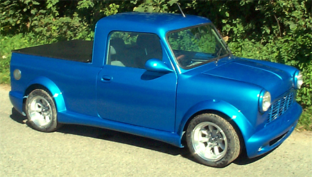 Blue Mini Pick-up with Majic Bodykit